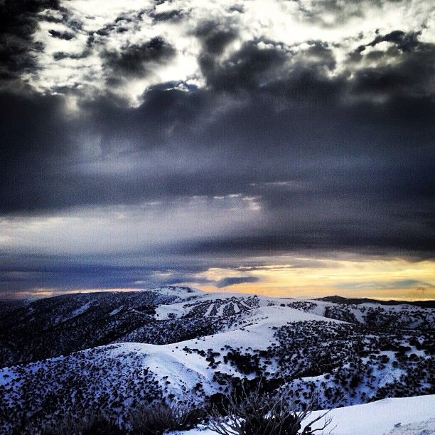 Driving over Mt Hotham during Winter