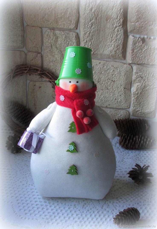 Купить Снеговик в стиле Тильда - 2 в интернет магазине на Ярмарке Мастеров