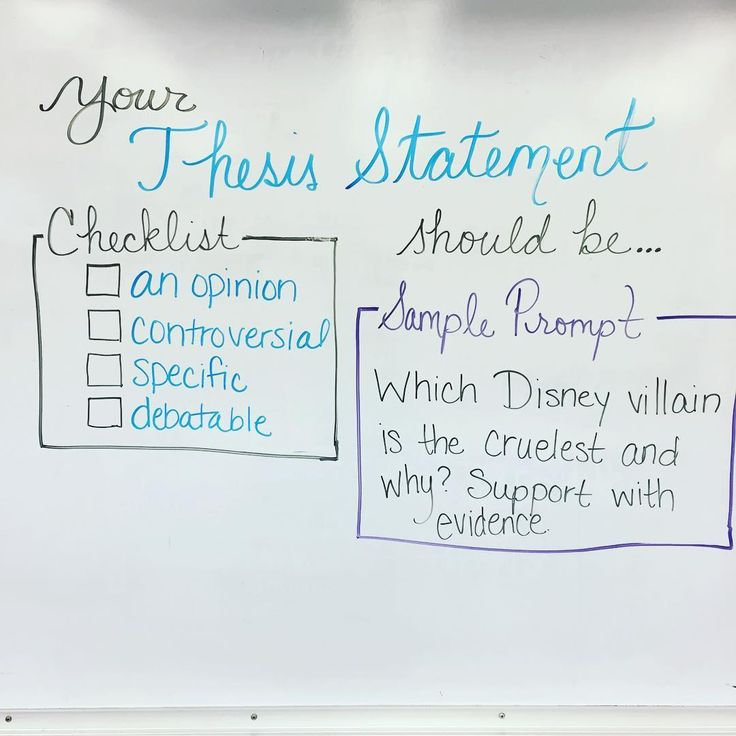 Teaching thesis statements