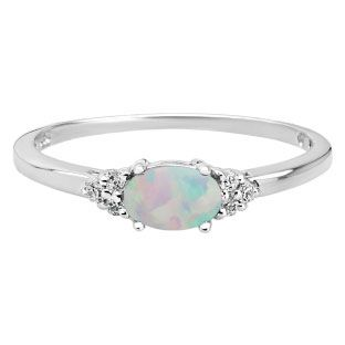 Petite Oval Cut Opal Gemstone Diamond White Gold Ring Available Exclusively at Gemologica.com Our complete line of gemstone and birthstone rings for women can be found at www.gemologica.com/gemstone-rings-c-27_49.html http://www.thesterlingsilver.com/product/libertini-womens-92-kt-white-silver-0-02-ct-round-cut-diamond-ring-g-h-color-si-clarity-l/