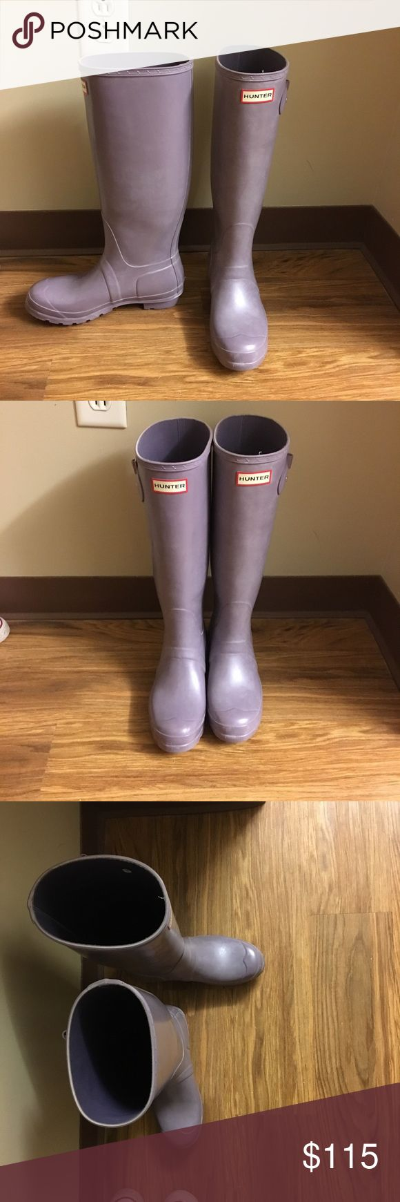 Purple hunter boots Under the knee purple rain boots. Good condition Hunter Boots Shoes Winter & Rain Boots