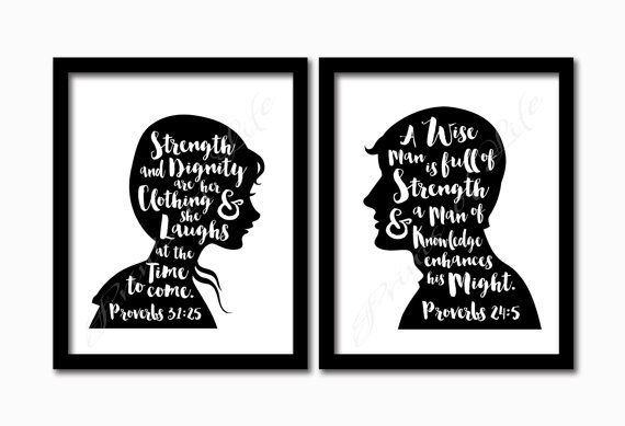 Proverbs 31 Proverbs 24 printable. Set of 2 by PrintsofLife