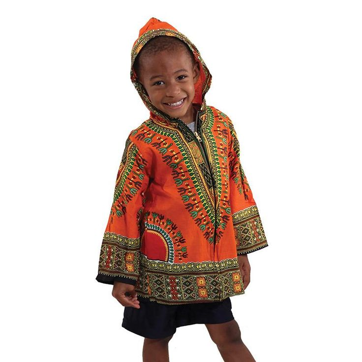 Children Traditional Dashiki Hoodie Jacket