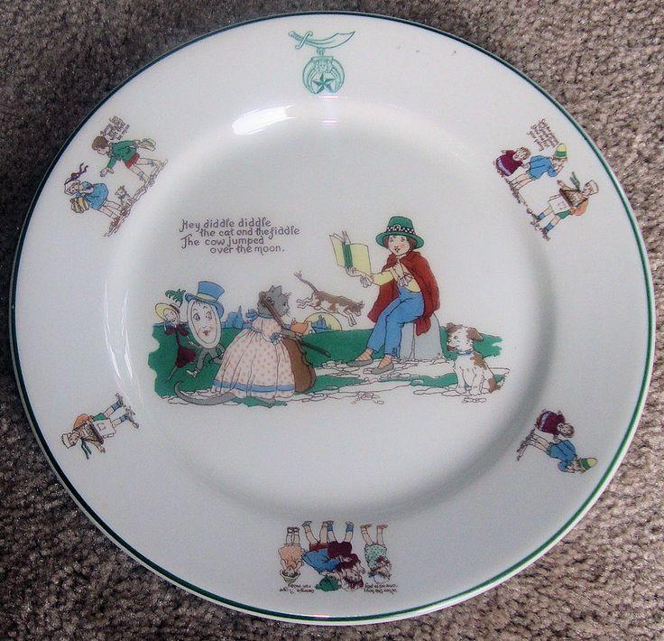 Shrine of North America Childrenu0027s Hospital Nursery Rhyme Plate and Bowl Set & 24 best Kitchen plates and bowl sets images on Pinterest | Bowl set ...