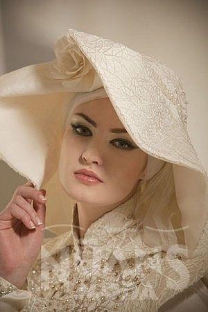 Yılın 2014 Tesettür Gelin Başı Modelleri görselleri