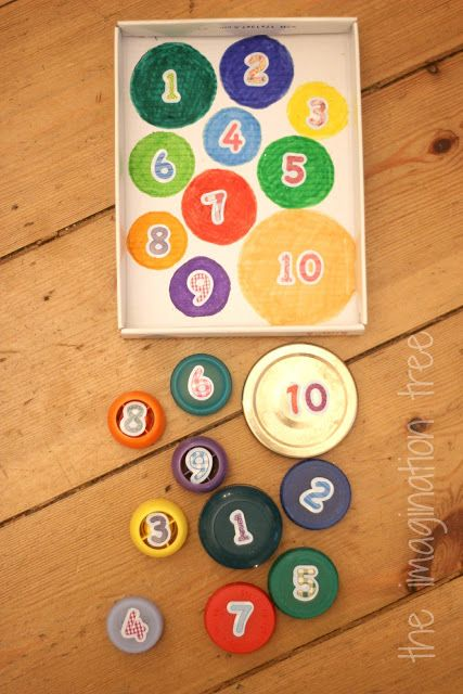 Bottle Top Count and Match Game - The Imagination Tree