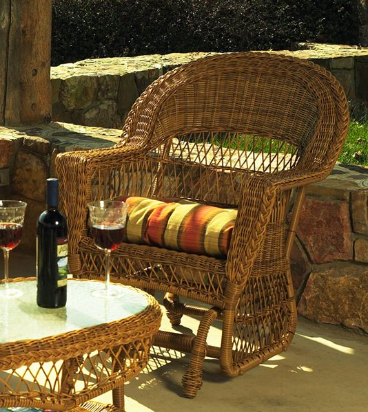 Outdoor Wicker Chair Glider In Natural Pinned By Http://www.wickerparadise. Nice Ideas