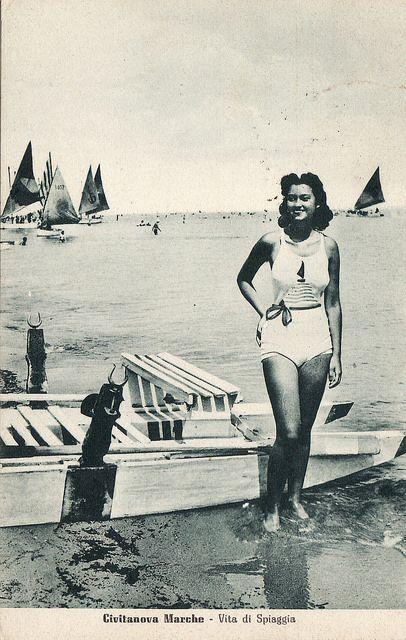 Italian Vintage Photographs ~ Porto Civitanova #Marche
