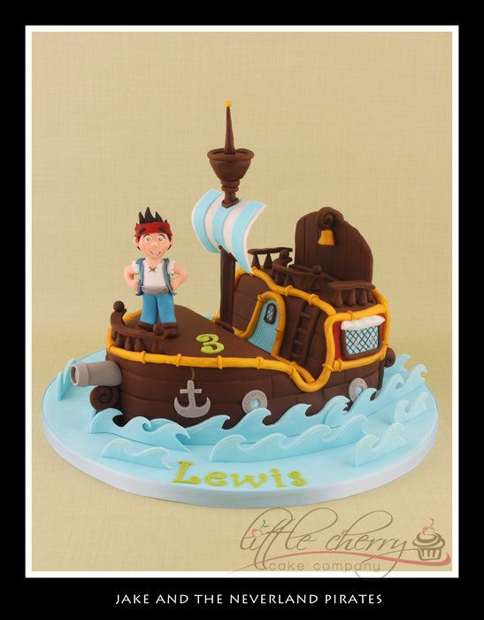 Jake and the Neverland PiratesBirthday Parties, Pirates Parties, Cake Ideas, Pirate Cakes, Parties Ideas, Neverland Pirates, Birthday Cake, Pirates Cake, Cherries Cake