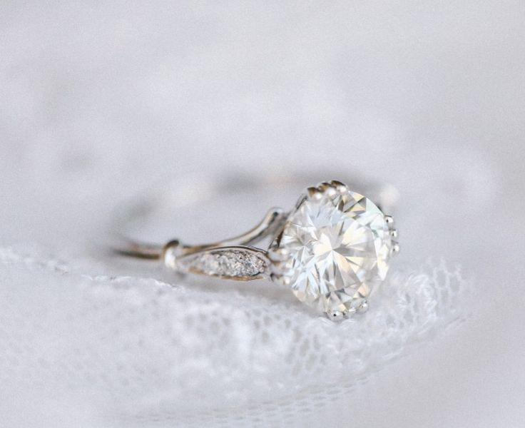 Vintage engagement rings are kind of our specialty. Featured above is the daintiest of platinum, diamond rings. Contact us at goodstoneinc.com for details :) See more here: https://www.instagram.com/p/BQd8TFqh5pS/?taken-by=goodstone_inc