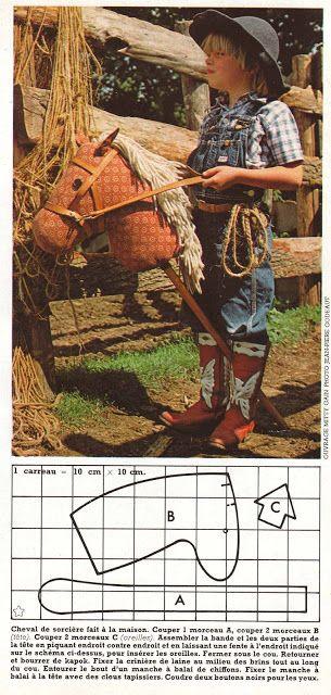 DIY vintage, couture, tricot, loisirs créatifs, années 70: Fabriquer un cheval à bâton