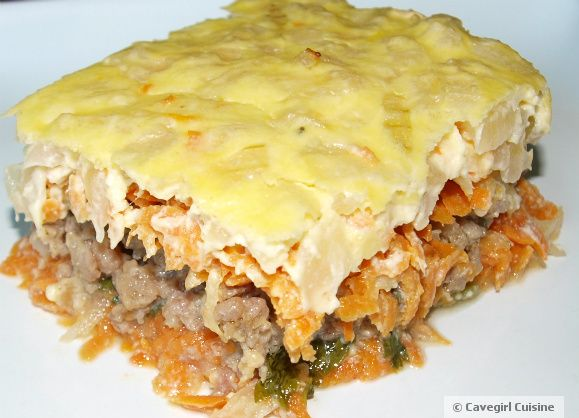 Breakfast Casserole (with sweet potatoes, pork sausage and spinach)  #paleo #glutenfree