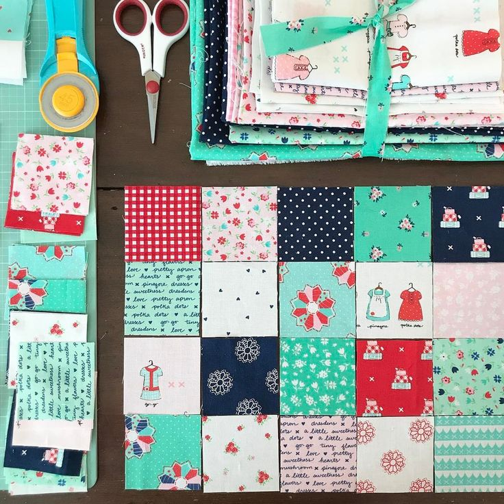 A little patchwork sewing this morning! What's even better is that we've had really good weather this week and today is suppose to be perfection! ☀️ #tashanoel #patchwork #alittlesweetnessfabric #iloverileyblake #quilting #patchworkquilt
