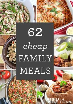 Need easy and delicious cheap family meals? Here you'll find cheap meals for large families, small families, or for college students on a budget for breakfast, lunch and dinner. Whether you are looking for healthy or hearty, splurge worthy dishes you'll find lots of tasty, budget-friendly inspiration.
