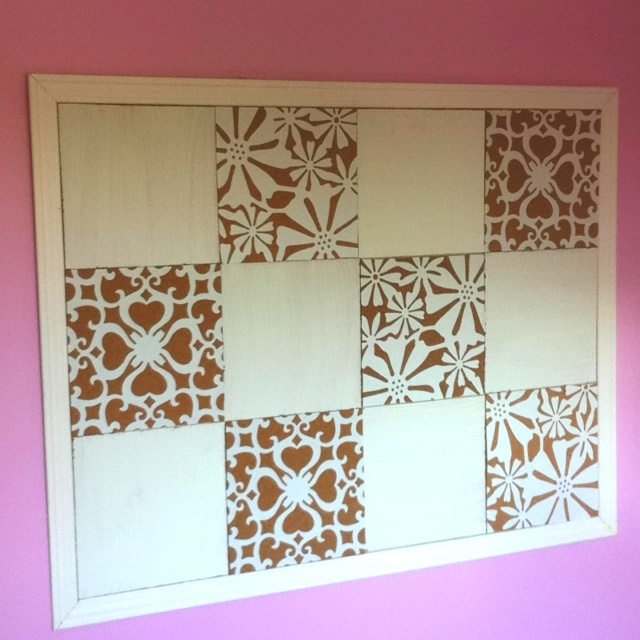 Painted Cork Board Tiles For Bulletin Board For The