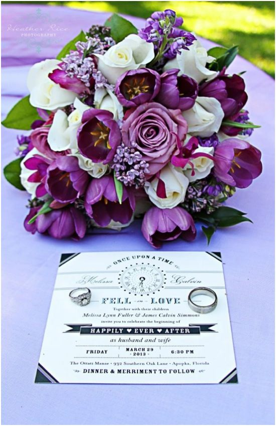 I would use more white flowers with touches of a darker heather. I suggest: Larger white roses and calla lilies, or tulips with the heather. -  Simply Sweet Tulip Bridal Bouquets #whitebouquet #heather #purple