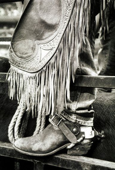 Rodeo Boot 8x12 inch Original Fine Art Photographic Print, boot, rodeo, B&W, country, rope, cowboy, spurs, leather, masculine, men