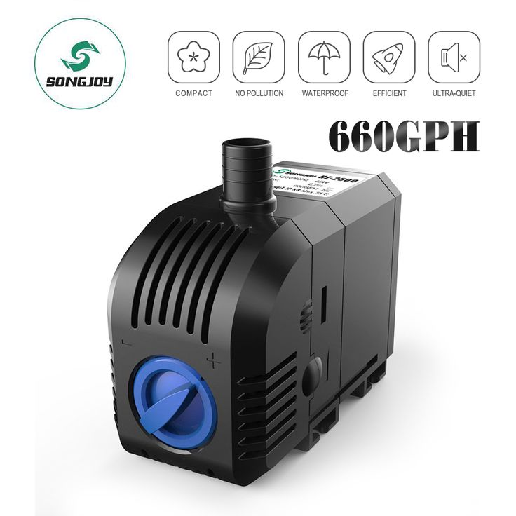 660 Gallons Per Hour 45 Watt Motor 120v 60hz 8 Cord The Models With The Lowest Power In The Same Flow Rate Has Highly Fish Tank Aquarium Fish Tank Aquarium
