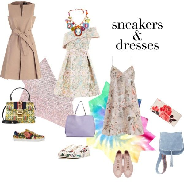 A fashion look from April 2017 by happiestime featuring Paule Ka, Zimmermann, Topshop, Common Projects, Gucci, Nasty Gal, Kate Spade, Steve Madden, Boohoo, Colo...