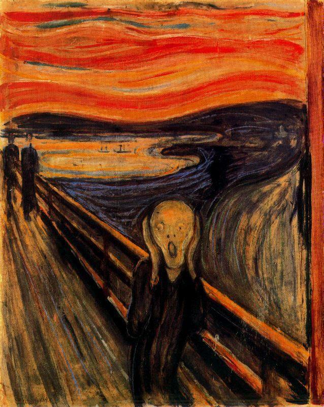 El grito (1893) Edvard Munch