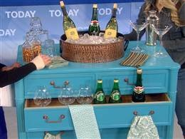 Dresser bar from Today Show. Hmm, hole in top for ice bucket?