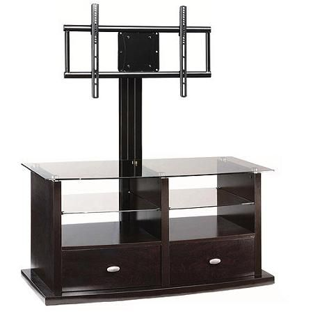"""Whalen Espresso TV Stand with Swinging Mount for TVs up to 56"""""""