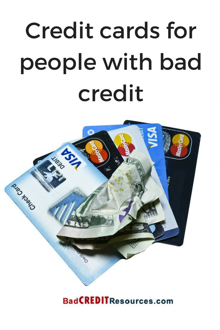 Credit cards for people with bad credit.