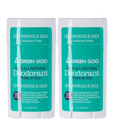 Love this Lemongrass & Sage Deodorant Oval Stick- Set of Two on #zulily! #zulilyfinds