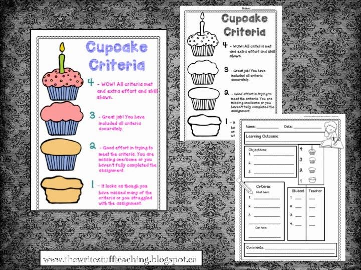 Use cupcake criteria to help students learn how to self assess - yummy!