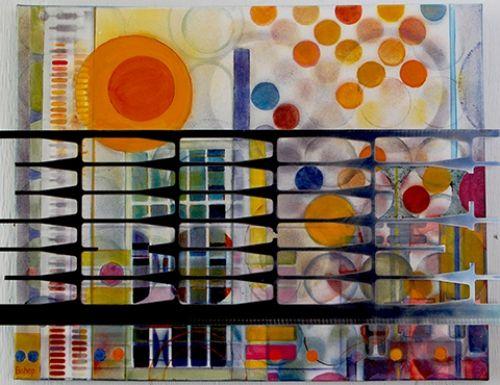 "'Sunrise in the City' by Uxbridge Ontario artist Lynn Bishop. ""As I create my…"