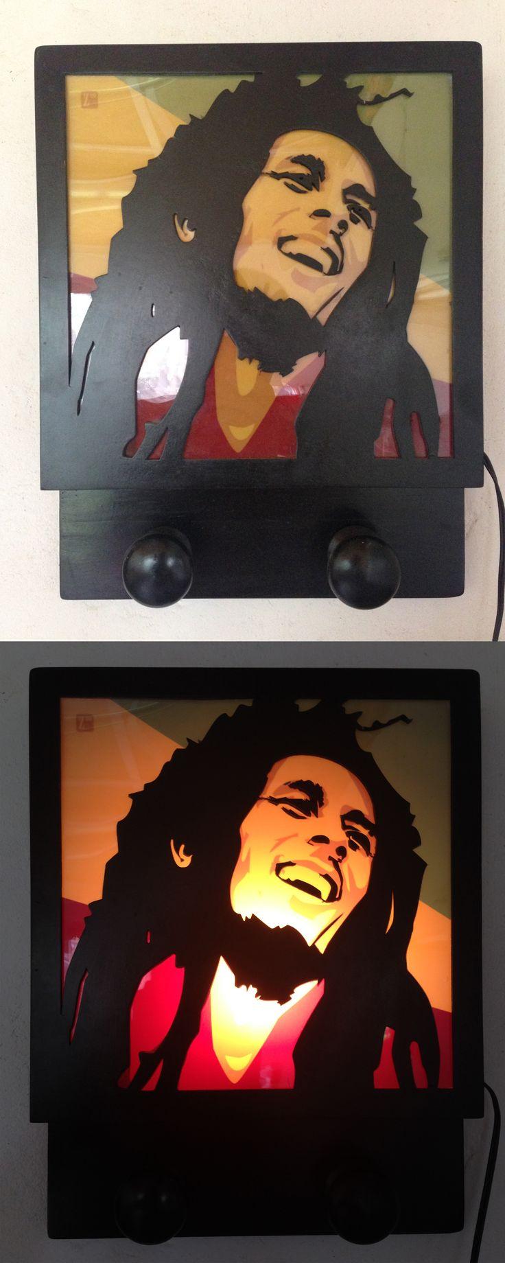 Bob Marley MDF, laser cut