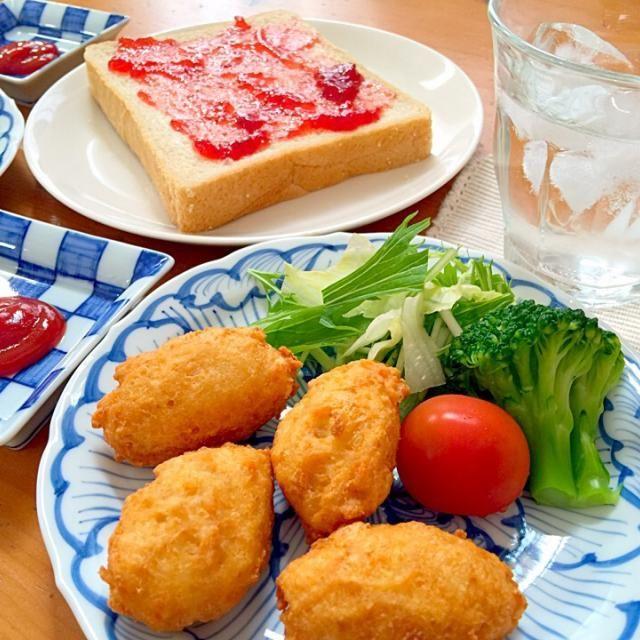 ナチュラルハウスで見つけた二男も食べられる乳製品不使用の玄米食パン。 お気に入りです (*^^*) - 43件のもぐもぐ - 鶏ひき肉と豆腐のナゲットと玄米食パン by smky