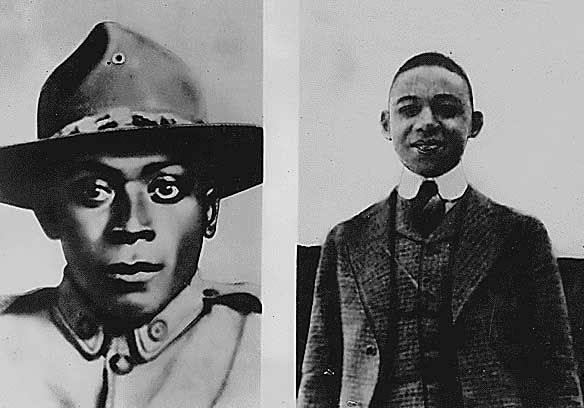 Henry Johnson and Needham Roberts were  the 1st Americans to be awarded the French Croix de Guerre, France's highest military award  for their World War I Heroism.  Johnson & Roberts were manning a 2 man outpost when German patrol, estimated at more than 20 men, attacked with grenades. Wounded, both Americans emptied their weapons and Roberts, who was wounded in his hip or knee and unable to stand, tossed grenades to Johnson who hurled them at the enemy patrol to keep the attackers away.