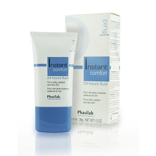 £22.95 (RRP £25) Phasilab Instant Comfort 24hr Fluid offers  daily protection from sun damage and environmental pollutants. Perfect for dry, sensitive and irritable skin it instantly provides soothing action, stimulates skin elastin production and reinforces Hyaluronic Acid production.
