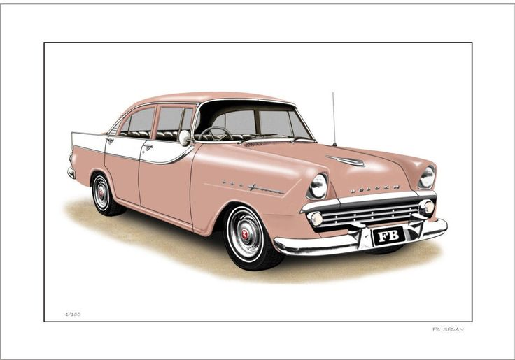 60' FB 138 HOLDEN SEDAN LIMITED EDITION CAR PRINT AUTOMOTIVE ARTWORK | eBay