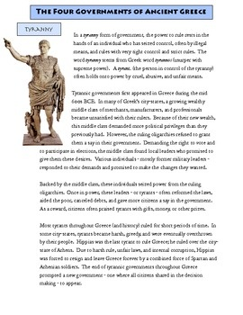 How did Democracy evolve in Ancient Greece?  In this lesson, students explore the earlier government styles in Ancient Greece to understand how Democracy came about...