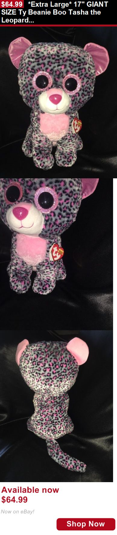 Binocular Cases And Accessories: *Extra Large* 17 Giant Size Ty Beanie Boo Tasha The Leopard New W/Tags BUY IT NOW ONLY: $64.99