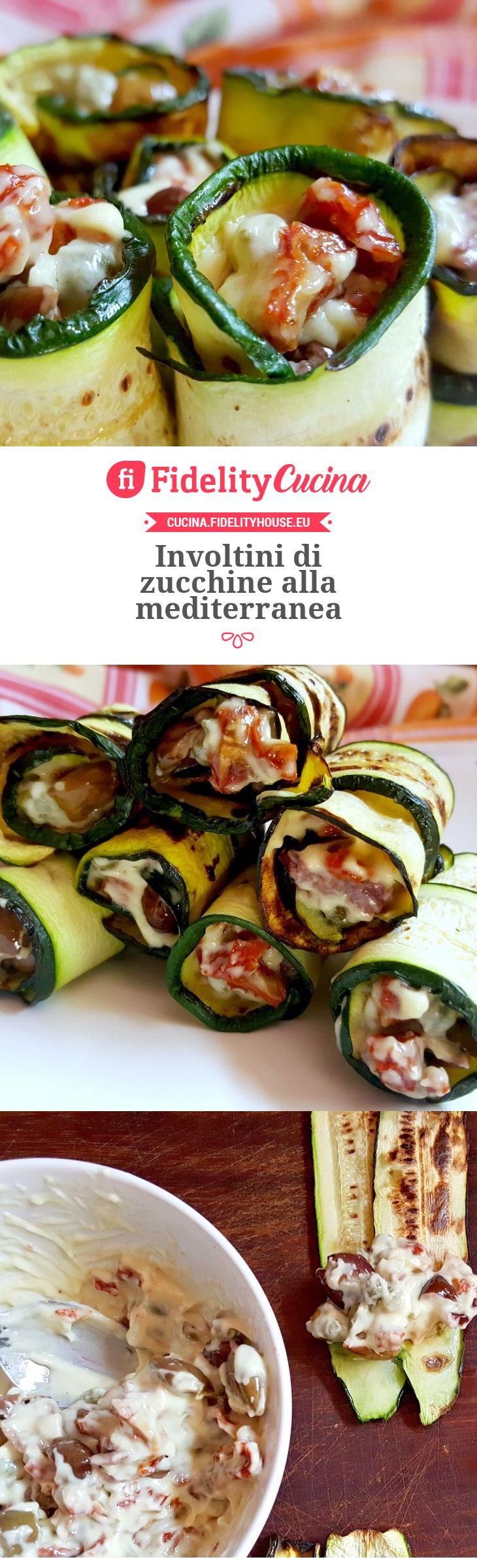 Involtini di zucchine alla mediterranea