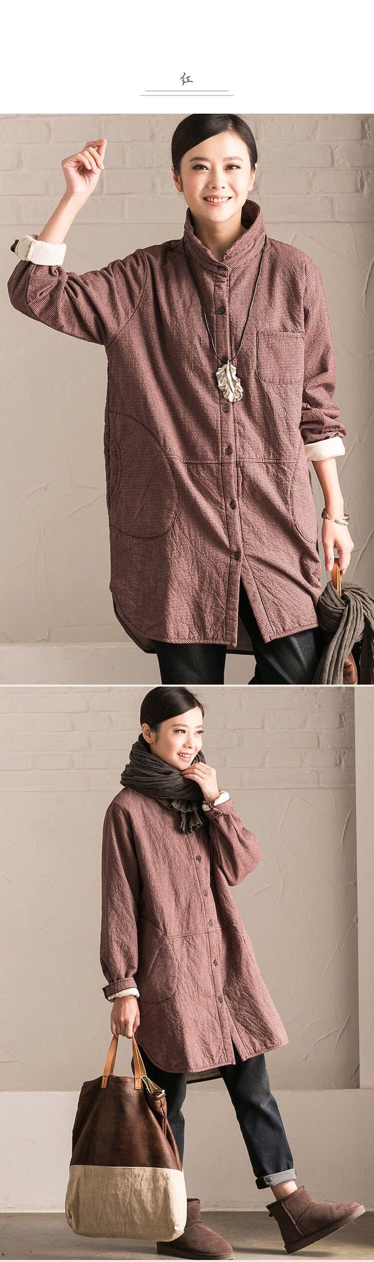 Warm winter loose shirt fashion clothes