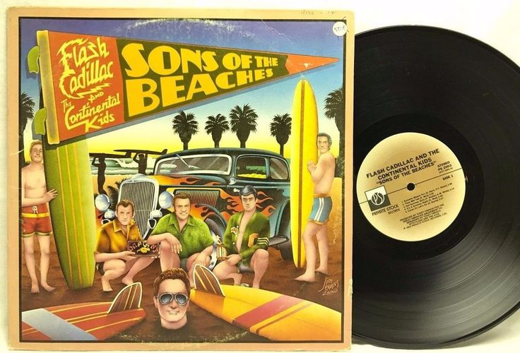 Flash Cadillac & The Continental Kids/Sons of The Beaches Vinyl Record LP Album stores.ebay.com/capcollectibles