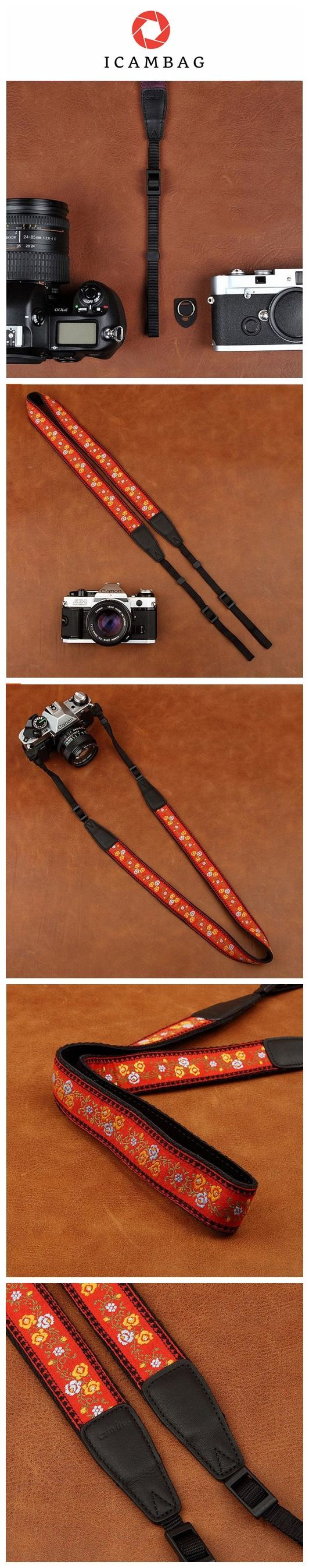 Weaving Style Strap Sony Nikon Canon Handmade Leather Camera Strap 8421 Handmade with top layer cow leather and denim. It can fit almost every DSLR, SLR and some larger digital cameras. **************