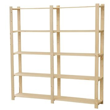 Make a wall to wall bookcase using a simple structure and adding some nice fronts GAMMA houten opbergrek 170x170x30cm