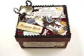 Putting together a prayer box
