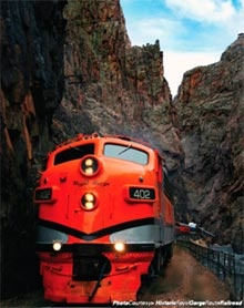 Ride the train at the Royal Gorge, CO