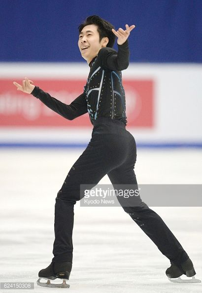 News Photo : Chinese figure skater Jin Boyang performs during...