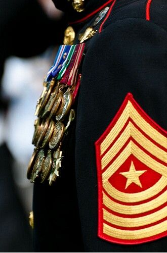 USMC: Just take a look at this fabulousness. A brave and wise soldier this must be to have so many medals and stripes.