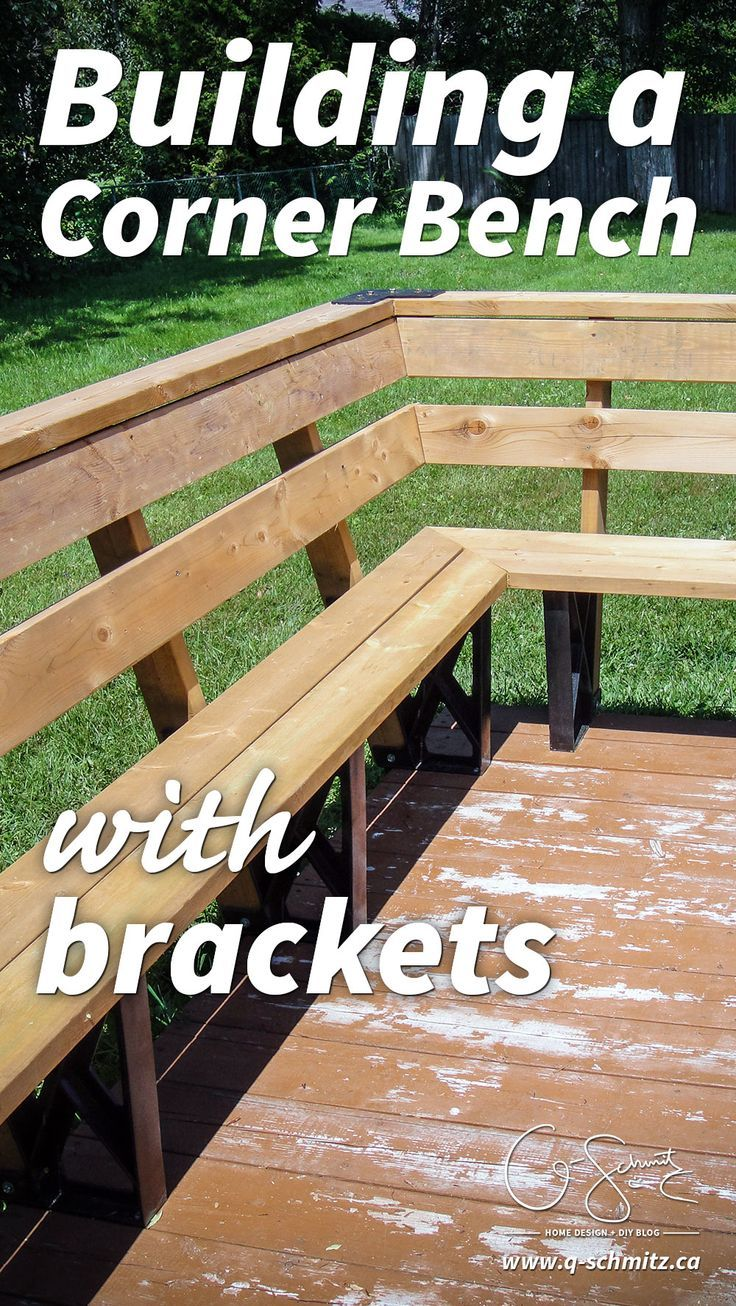 Solid roof pergola plans in addition park bench picnic table moreover - Are You Ready To Tackle An Easy Diy Project This Summer Building A Corner Bench