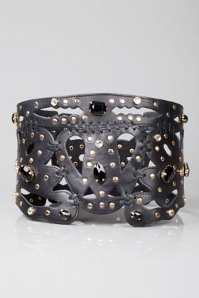 """""""Bianca Somer"""" tasarımı  Premium Line - Siyah Korse Taşlı Kemer"""
