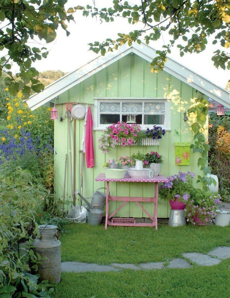 Best Shabby Chic Office Shed Ideas Images On Pinterest