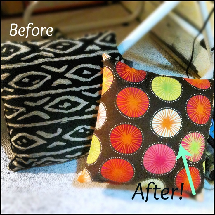 Sewing tutorial - 4 easy steps to recover your old pillows.